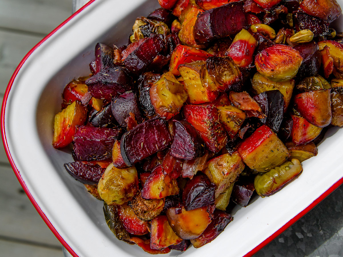Beet And Brussels Sprout Salad Paleodish