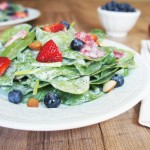 Spinach & Berry Salad with Poppyseed Dressing | Living Loving Paleo
